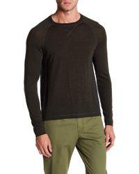 Quinn - Colorblock Raglan Wool Sweatshirt - Lyst