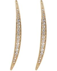 Vince Camuto - Crystal Accent Curved Linear Earrings - Lyst