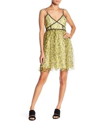 Romeo and Juliet Couture - Floral Print Lacy Dress - Lyst