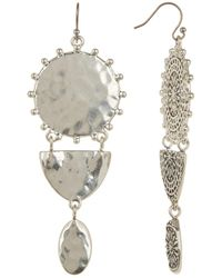 Lucky Brand - Textured Medallion Multi-drop Earrings - Lyst