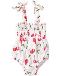 51b293665ab0 Jessica Simpson - Sea Salt Cherries One Piece Bathing Suit (baby Girls 12- 24m