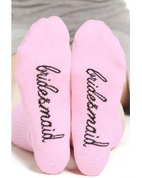 Sockart - 'bridesmaid' Crew Socks - Lyst