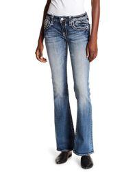 Vigoss - Medium Wash Flare Bottom Jeans - Lyst