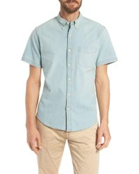 J.Crew - Slim Fit Stretch Chambray Shirt - Lyst
