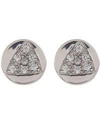Melinda Maria - Remy Cz Triangle Round Stud Earrings - Lyst