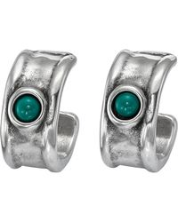 Uno De 50 - Fortified Murano Glass Accented C-hooped Earrings - Lyst