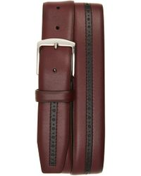 Canali - Perforated Leather Belt - Lyst