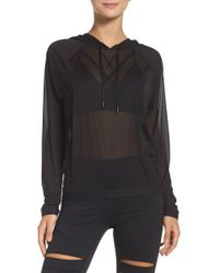 Zella - Innovate Sheer Water Repellent Hoodie - Lyst