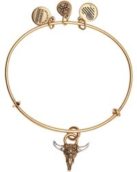 ALEX AND ANI - Spirited Skull Pendant Necklace - Lyst