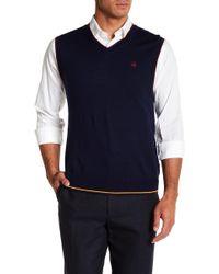 Brooks Brothers - V-neck Merino Wool Vest - Lyst