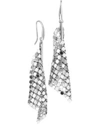 1AR By Unoaerre - Specchio Mesh Large Cone Drop Earrings - Lyst