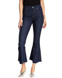 7 For All Mankind - Priscilla Flare Hem Jeans - Lyst