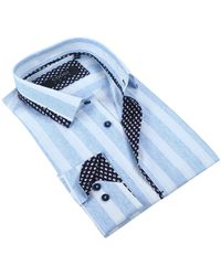 Coogi - Slim Stripe Tailor Fit Dress Shirt - Lyst