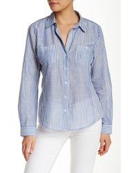 Sandra Ingrish - Two Pocket Stripe Button-down Shirt - Lyst