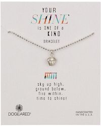Dogeared - Sterling Silver Your Shine Cupcake Bracelet - Lyst