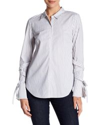 1.STATE - Lace-up Sleeve Blouse - Lyst