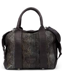 Liebeskind Berlin - Snake Embossed Leather Satchel - Lyst