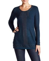 Max Studio - Long Sleeve Stitched Sweater - Lyst