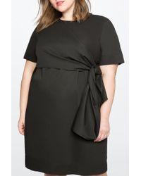 Eloquii - Knot Detail Shift Dress (plus Size) - Lyst