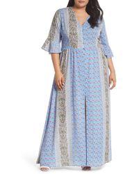 Glamorous - Button Front Maxi Dress (plus Size) - Lyst
