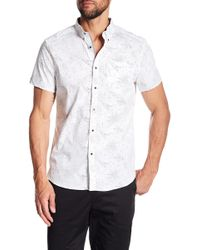 Kenneth Cole - Galaxy Print Short Sleeve Regular Fit Shirt - Lyst