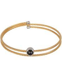 Alor - 14k White Gold & Black Onyx Yellow Cable Coil Bracelet - Lyst