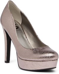 G by Guess   Cannor Metallic Platform Pump   Lyst