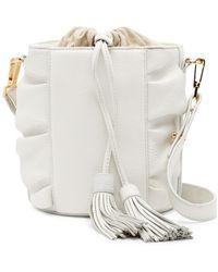 MILLY - Astor Ruffle Drawstring Bucket Bag - Lyst