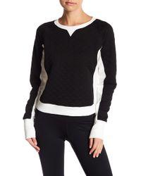 Zella - Bella Quilted Crop Pullover - Lyst