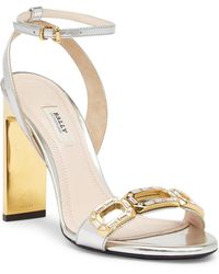 Bally - Parvia Leather Heeled Sandal - Lyst