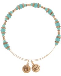 ALEX AND ANI - M-day Turquoise Beaded Expandable Wire Bracelet - Lyst