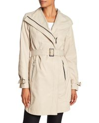 T Tahari - Evelyn Side Zip Coat - Lyst