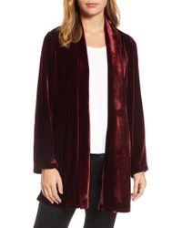 Eileen Fisher - Shawl Collar Velvet Jacket - Lyst