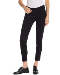 AG Jeans - Ripped Ankle Jeans - Lyst