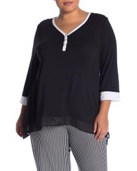 DKNY - Pajama Top (plus Size) - Lyst