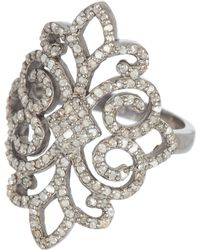 Adornia - Champagne Diamond Florentine Ring - 1.1 Ctw - Lyst