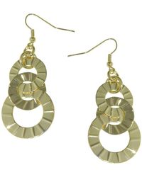 1AR By Unoaerre - Interlinked Textured Disc Drop Earrings - Lyst