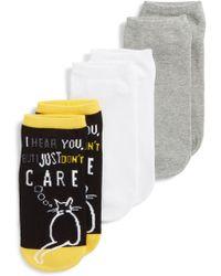 Hue - Cat Don't Care Footsie 3-pack Socks - Lyst