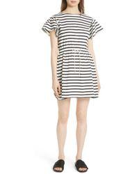 Kate Spade - Drop-shoulder Striped Dress - Lyst