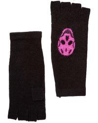 Skull Cashmere - Cashmere Fingerless Gloves - Lyst
