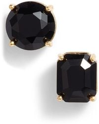 Kate Spade - Mismatched Faceted Cz Stud Earrings - Lyst