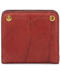 Frye - Campus Rivet Small Leather Wallet - Lyst