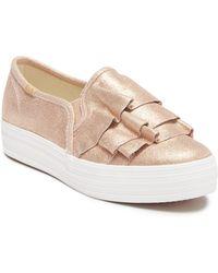 Keds - Triple Kick Ruffle Slip-on Platform Sneaker - Lyst