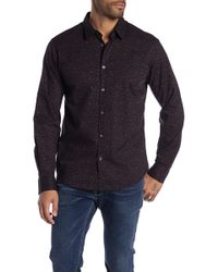 f6c31089 Lyst - John Varvatos Skull Cotton Button-down Shirt in Blue for Men