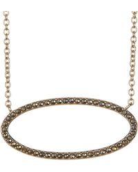 Judith Jack - Gold-tone Marcastie Detail Oval Pendant Necklace - Lyst