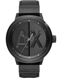 7a8c2c5c502 Lyst - Emporio Armani Atlc Logo Face Silicone Men s Watch in Black ...
