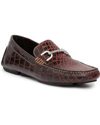 Donald J Pliner - Viro Croc-embossed Loafer - Lyst