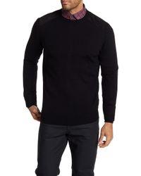 Bugatchi - Contrast Shoulder Wool Jumper - Lyst