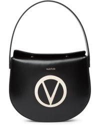 bd121ae639e Valentino By Mario Valentino Melanie Sve Black Leather Satchel Bag in Black  - Lyst