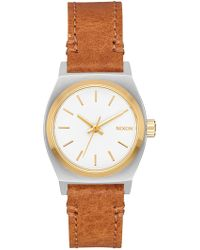 Nixon - Women's Small Time Teller Miyota Quartz Watch, 26mm - Lyst